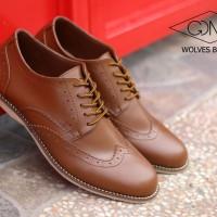 Jual PROMO!!! sepatu kerja pria pantofel kulit GDSN wolves flatshoes murah Murah