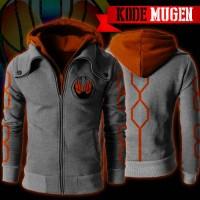 Jaket Anime Kamen Rider Ghost Mugen Double Zippers Hoodie (MUGEN)