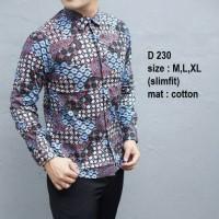 Baju Batik Pria Modern Slim Fit Lengan Panjang D 230