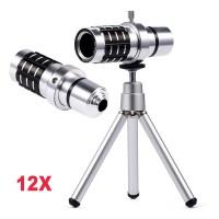 Phone Telescope lens 12X Zoom Aluminum + Tripod lens camera