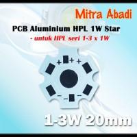 Heatsink Star PCB 1W-3W Putih/White Aluminium Diameter 20 mm
