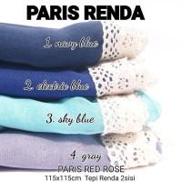 Segiempat Paris Renda Navy Blue Electrik Blue Sky Blue Gray