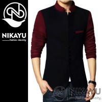 Blazer NEW RAIN BLACK - Jas Cowok Men Pria Slimfit Jaket Korean Style
