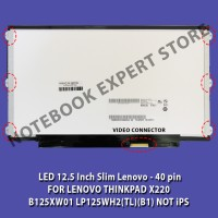 harga LCD / LED 12.5 Inch Slim Lenovo - 40 pin FOR LENOVO THINKPAD X220 Tokopedia.com