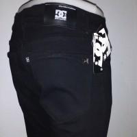 Celana Jeans skinny\ stretch DC size S, M, L, XL , warna Hitam pekat