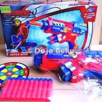 Mainan Pistol Tembakan Soft Bullet Gun Spiderman (Spider Man)