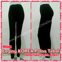 Jual Celana Leging KOREA Polos - Hitam (bahan tebal) Murah