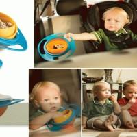 Mangkok Anti Tumpah Balita Bayi Anak Snack Bubur Nasi Kids Gyro Bowl