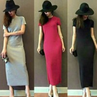 harga 19-Long dress olive Tokopedia.com