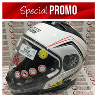 harga Helm Modular Half Face Full Face Nolan N44 COMO Metal White Red Stripe Tokopedia.com