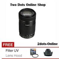 Canon Lensa EFS 55-250 IS STM 55-250mm f/4-5.6 IS STM + Filter & Hood