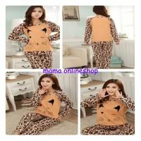 Stelan Cute Leopard / Stelan Baju Tidur / Baju Tidur Wanita / Sb