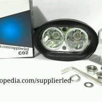 Jual Lampu Tembak/Sorot Motor LED CREE 2 Mata OWL, Cahaya Sangat Terang Murah
