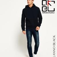 Sweater Topi polos basic Pria baby terry Black Okechuku