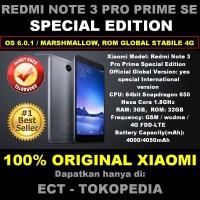 Jual NEW!!! XIAOMI REDMI NOTE 3 PRO PRIME SE 4G LTE 3/32 GB BLACK-GREY Murah