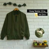 Classy Bomber Army Jaket sweater Army terbaru