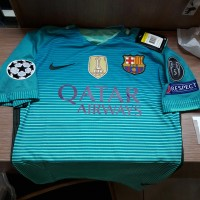 JERSEY BARCELONA 3RD FULL PATCH UCL+WCC 2016/2017