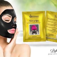 [ Sachet ] Hanasui Naturgo BPOM ( mud face mask / masker lumpur BPOM )