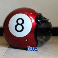 Helm Bogo Retro JPN Angka 8 Free Masker