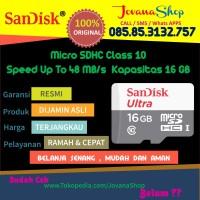 harga Sandisk Ultra Micro Sd / Sdhc 16 Gb Class 10 48mb/s Tokopedia.com