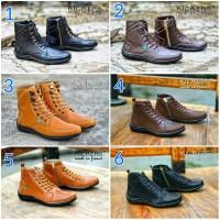 Sepatu Pria Tracking Kickers Zipper Tali Boots Grade Original Termurah