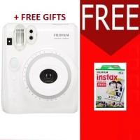 Fujifilm Instax Polaroid Camera 50s White FREE FILM + BONUS