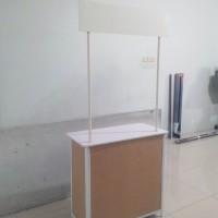 harga meja Booth/Stand/Event Desk/Meja Promosi Kayu Portable Bongkar Pasang Tokopedia.com