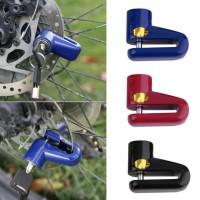 Gembok Cakram Sepeda Disc Brake Lock Baja Kunci Anti Maling Motor