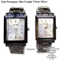 jam tangan allba couple vistar silver fullset
