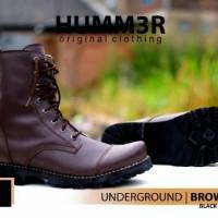 sepatu pria boot tinggi murah keren hummer