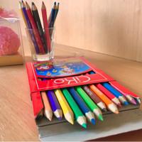 Pensil Warna CiKo 12 Warna Pendek (8,7cm)