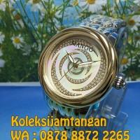 JAM TANGAN WANITA MANGO MA1004L-80TK SILVER KOMBINASI GOLD ORIGINAL