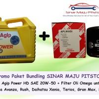 Paket Bundling Oli Mobil Agip Power HD 20w50 & Filter Oli Avanza Xenia