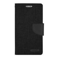 Mercury Canvas Diary Case Xiaomi Redmi Note 2 Flip Cover - Hitam