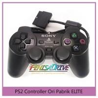 Stick PS2 Ori Pabrik Kabel Serat Wired Controller Gamepad Stik Cabel