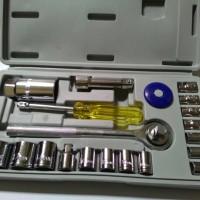 Kunci Sok / Sock Set 21 Pcs Alat Bengkel Motor