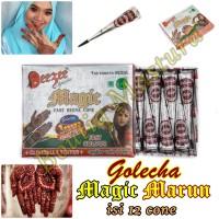 Golecha Henna Magic Merah Marun isi 12 cone Mahendi