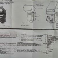 Speedlite TWIN FLASH Auto Sunblitz DF 808 TTL For Canon Nikon