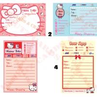 Sticker Online Shop Baby & Kids / Stiker Pengiriman Tema Hello Kitty