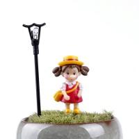 Miniature Girl Totoro Dekorasi Terrarium / Mini Fairy Garden