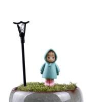 Miniatur Girl Totoro Hoodie Terrarium / Mini Fairy Garden