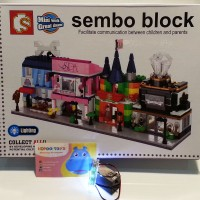 lego sembo block SD6504-6507 Spa Toy Pet shop Jewellery store with LED