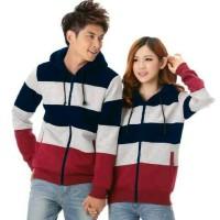 Jaket Couple Winter Navy/Jacket Zip Sepasang Babyterry