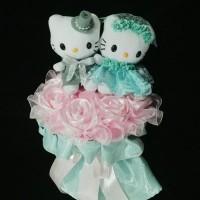 Jual hand bouquet 5109 buket bunga tangan pesta pernikahan boneka wedding Murah