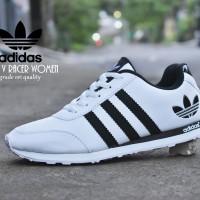 Sepatu Sport Adidas Neo V Racer Grade Ori Putih Hitam / kets casual