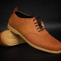 Jual Sepatu Casual Kulit Pria Azcost Edward Original Tan Murah