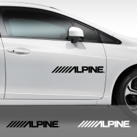 Sticker Alpine Pintu Kaca Mobil 60 cm Sound System Stiker Cutting