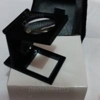 Jual 10X Microscope LED Light Mini Zinc Alloy Magnifier Loupe scale pabric Murah