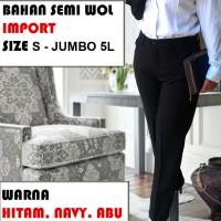 Jual Celana Kerja Wanita / Celana Kantor Wanita Panjang (S - XL) Murah