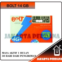 Perdana Bolt 14 GB 1 Tahun - Bolt Super 4G LTE 14gb Aktif!! - ade 8 GB